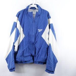 90s Reebok Mens XL Color Block Windbreaker Jacket